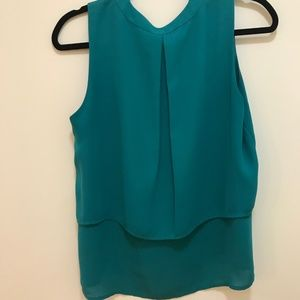 Collective Concepts Tops - Layered Teal Sleeveless Blouse